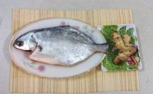 Nguyên liệu tươi ngon để làm món cá chim kho.