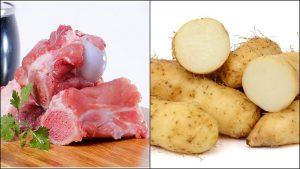Củ từ và xương là 2 nguyên liệu chính của món này.