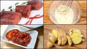 Chuẩn bị các loại nguyên liệu tươi ngon làm trứng cá chiên ngay nhé.